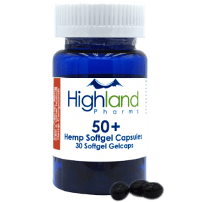 Hemp Softgel, 30x50mg, Highland Pharms, CBD Capsules, Capsules, CBD Hemp, CBD Oil,