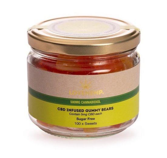 Sugar Free CBD Gummy Bears | 100x5mg | LoveHemp