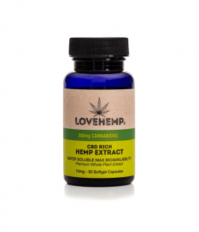 Isolate CBD softgels | 30x10mg | LoveHemp