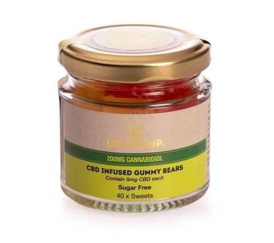 Sugar Free CBD Gummy Bears | 40x5mg | LoveHemp