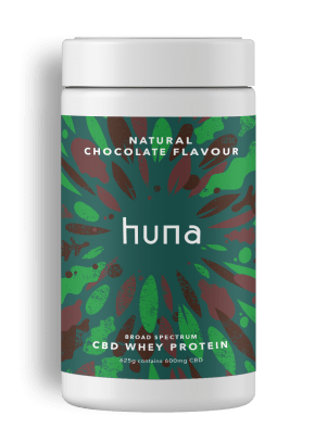 CBD Whey Protein Powder | Chocolate | Huna